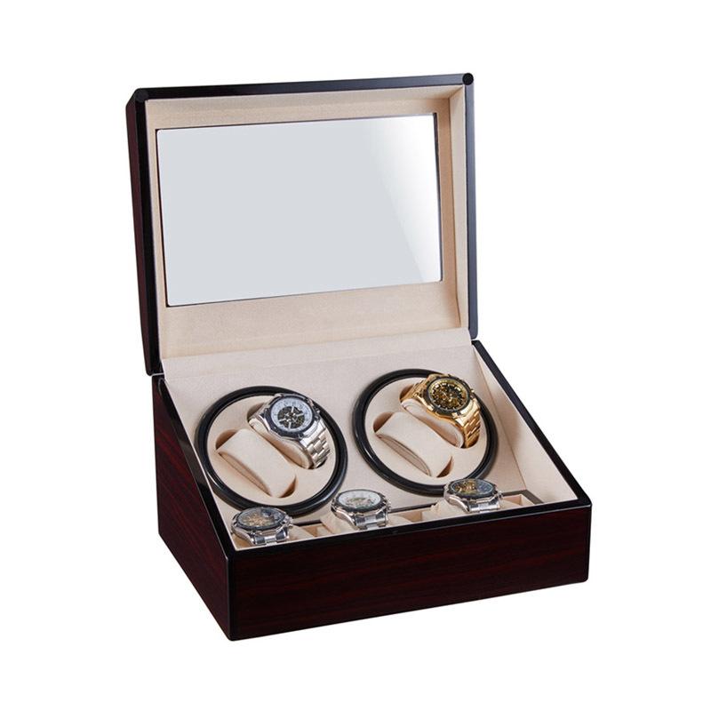 Custom Wooden Winder Watches Winder Wholesale Display Double Head Silent Motor Box