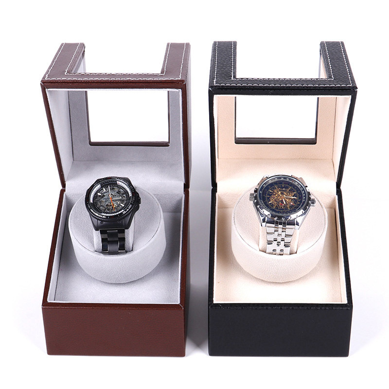 Automatic Watch Winder PU Leather Mechanical Watch Double Winding Display Organizer Luxury Motor Shaker