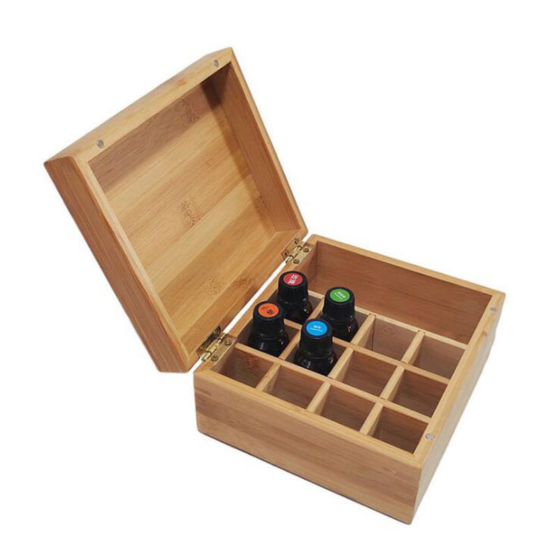 Modern Natural Rectangle Wooden Tea Boxes Wholesale