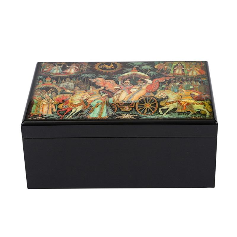 Custom Religion Pattern Wooden Tea Storage Box
