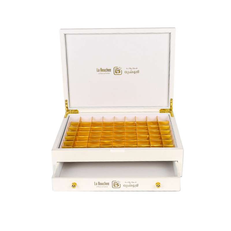 Luxury Glossy Lacquer Wooden Drawer Best Food Chocolate Box