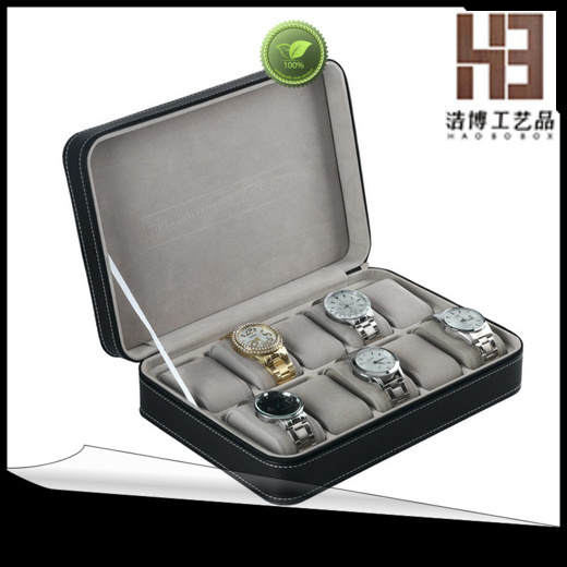 mens leather watch box company