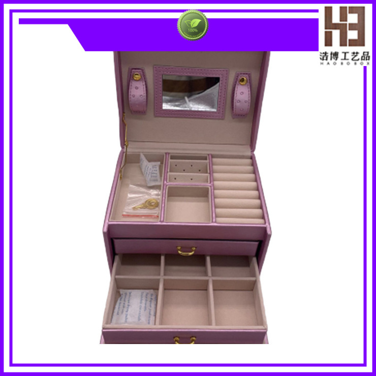 High-quality black jewelry box supply