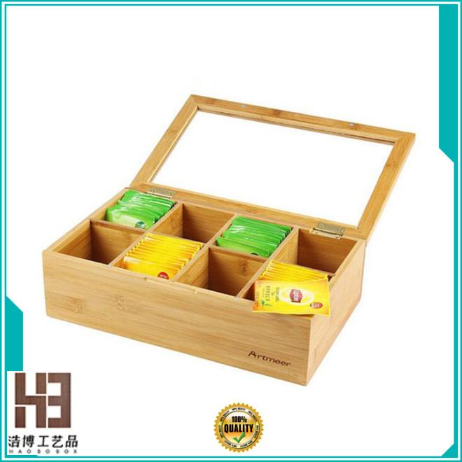 small wooden tea box company
